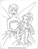 Printable Barbie Fairytopia Coloring Pages