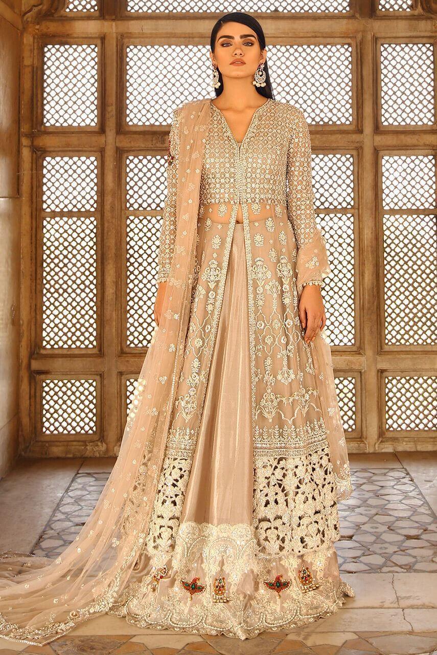 Front Open Bridal Shirt for Pakistani Brides