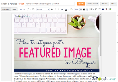 Setting the featured image for your Blogger blog post
