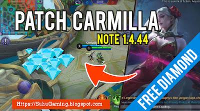 Download Script Diamond Gratis Patch Carmilla Mobile Legends: Bang Bang