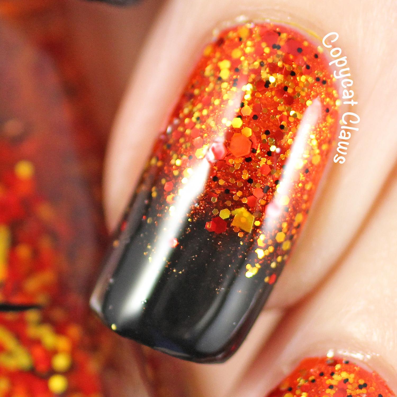 Copycat Claws: Halloween Gradient Nails