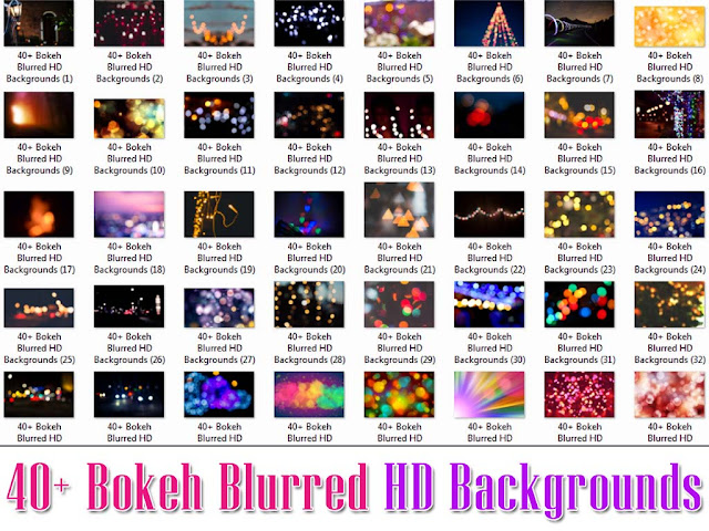 Bokeh Blurred Backgrounds