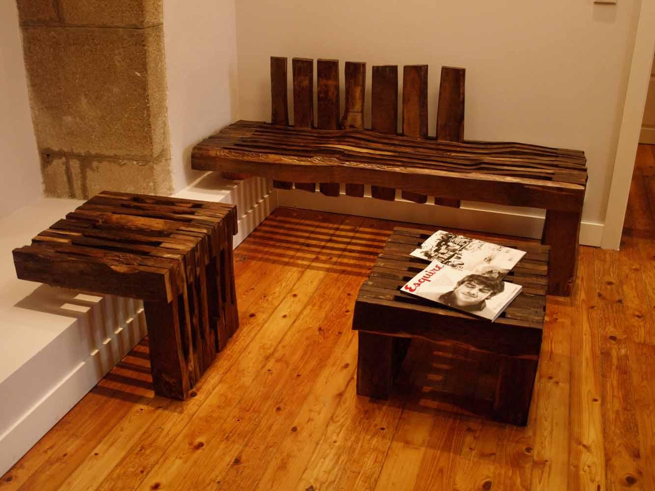 Arquitectura arquidea reforma de oficina por mas for Diseno de muebles con madera reciclada