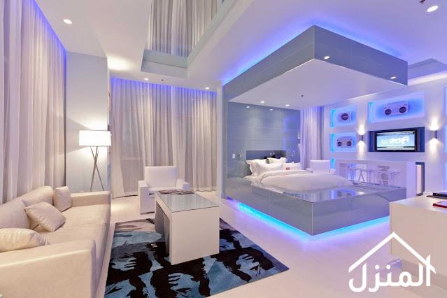 صور اضاءة انارة غرفة نوم
