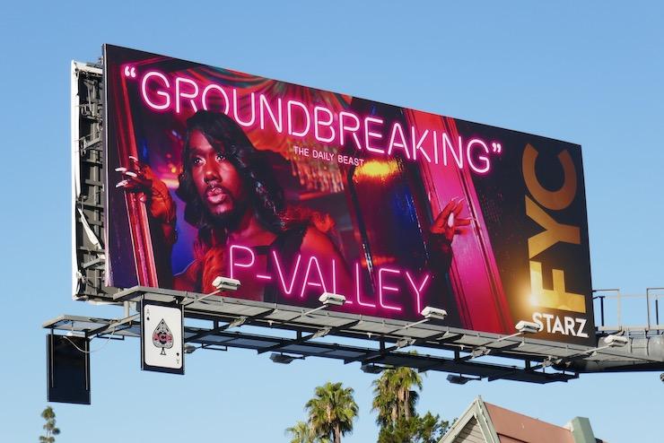 P-Valley Groundbreaking FYC billboard