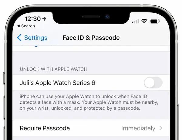 افتح قفل iPhone باستخدام Apple Watch عند ارتداء قناع