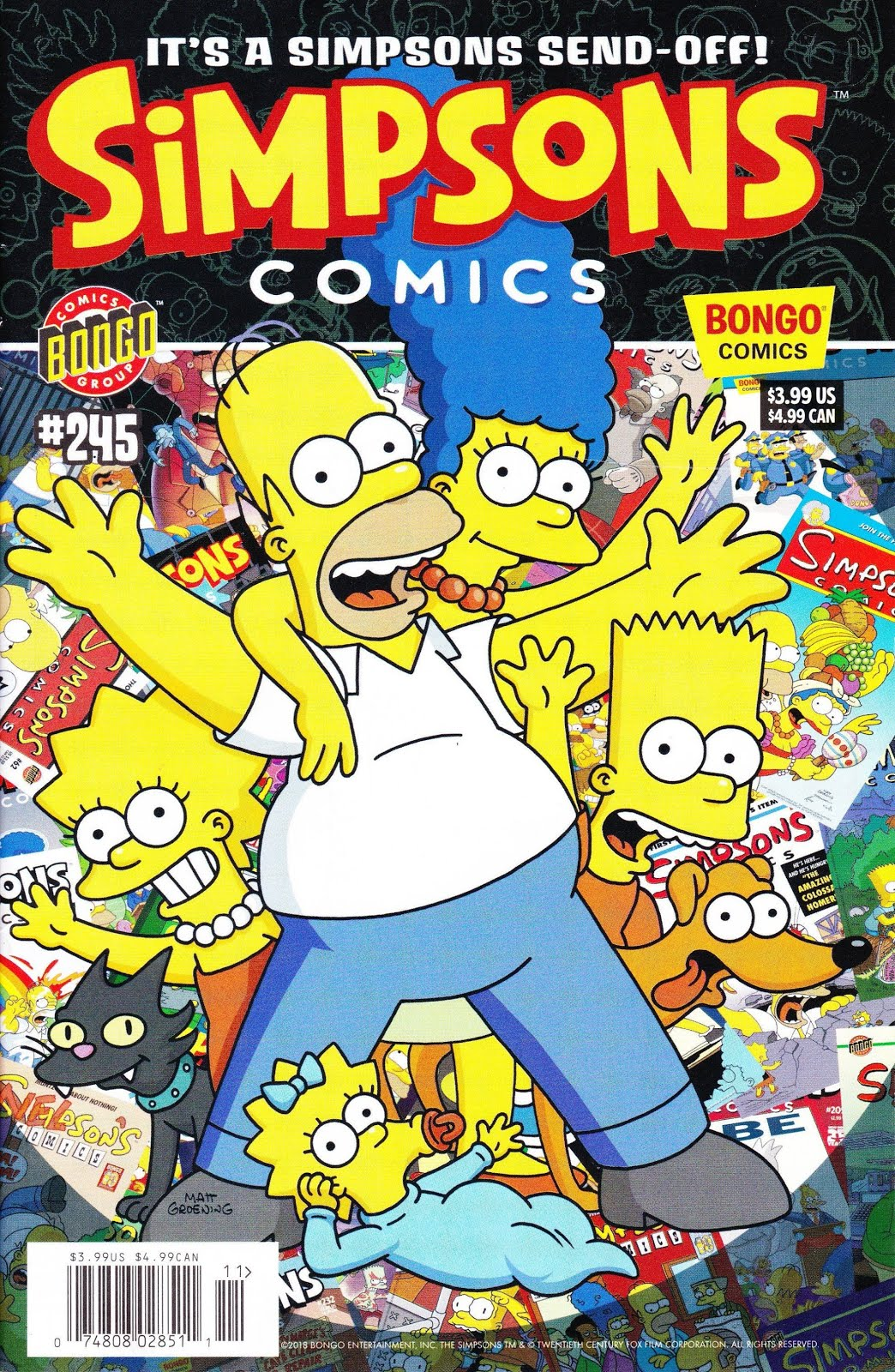 The Simpsons #245 Final Issue October 2018 Bongo Comics Grade NM