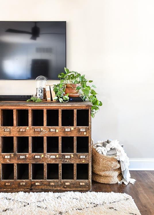 Vintage wood cubby