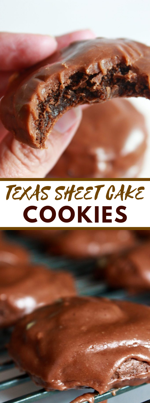 Texas Sheet Cake Cookies #desserts #chocolate