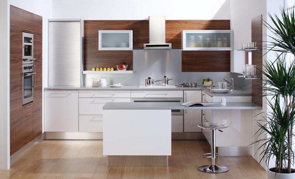 M s ideas de cocinas en blanco y madera ii cocinas con for Cocina blanca y madera