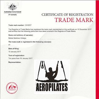 MARCA REGISTRADA AEROPILATES AUSTRALIA