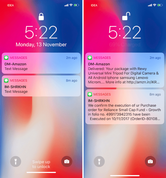 how to get email notifications on iphone lock screen