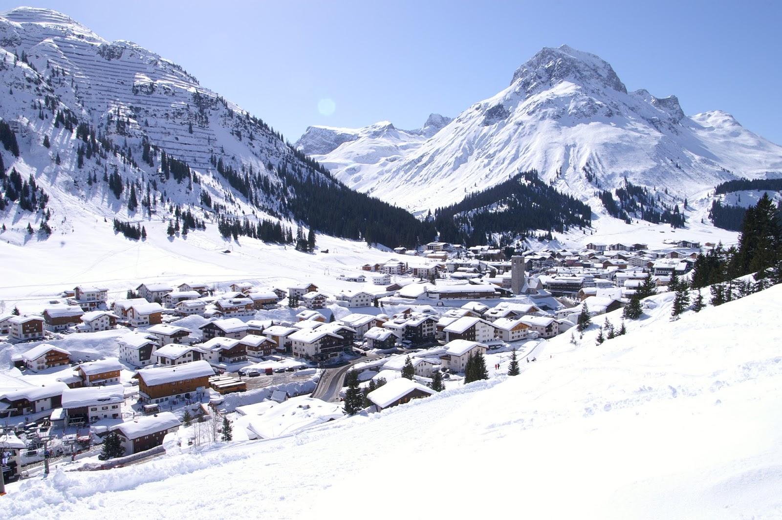 Lech Vorarlberg Alpi austriache Austria