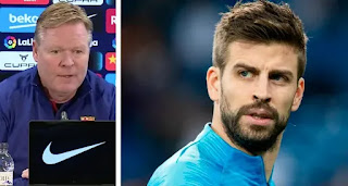 'Things like these may get you into trouble': Koeman advice Pique on referee comments