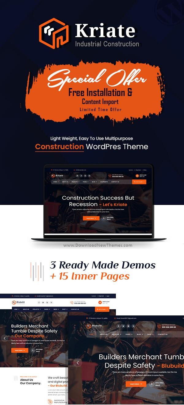 Industrial Construction Multipurpose WordPress Theme