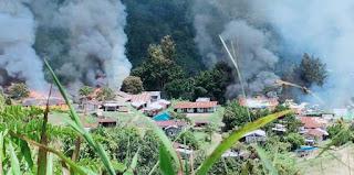 KKB Kembali Berulah, Sejumlah Fasilitas Umum di Kiwirok Dibakar