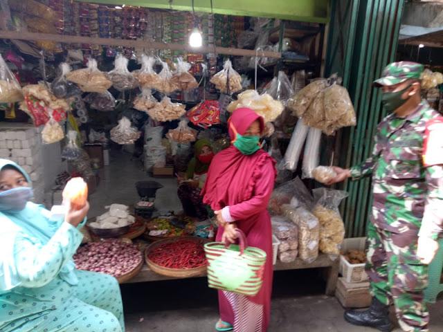 Kodim Sragen - Ini Protokol Pencegahan Corona Bagi Pedagang di Pasar Tradisional