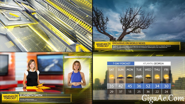 News Broadcast Graphic Package 1 VideoHive | Free After