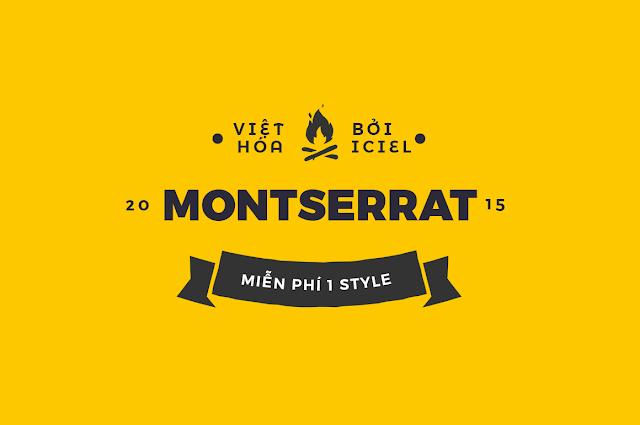 [Sans-serif] Montserrat Việt hóa