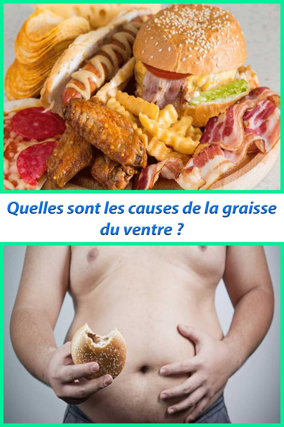 Quelles sont les causes de la graisse du ventre