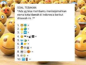 Tebak Gambar Emoji untuk Nama Kota di Indonesia