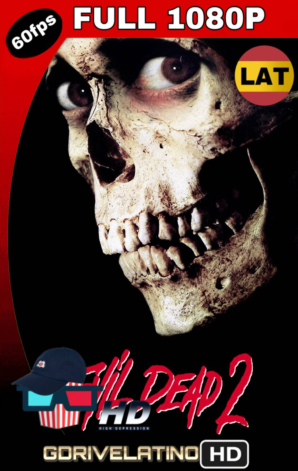 Evil Dead 2 (1987) BRRip FULL 1080p (60 FPS) Latino-Ingles MKV