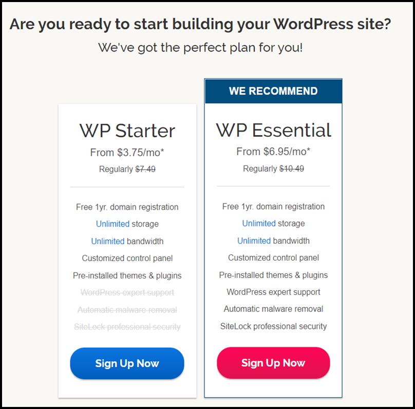 WordPress Hosting By iPage