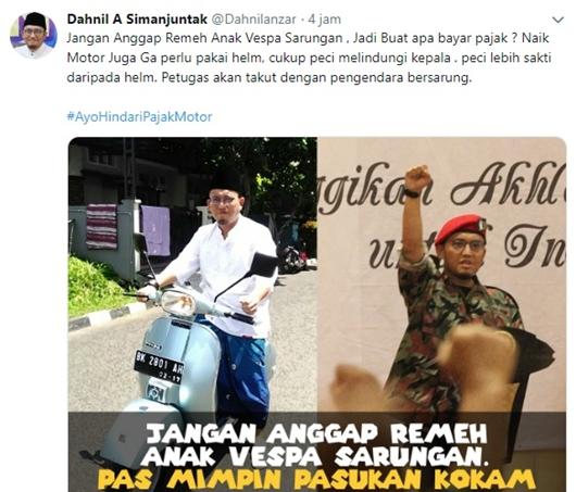 Ngaku Dibajak, Cuitan Akun Dahnil Anzar: buat Apa Bayar Pajak Kalau Prabowo Tak Jadi Presiden