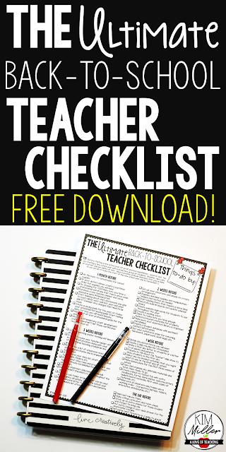 The Ultimate Back to School Teacher Checklist