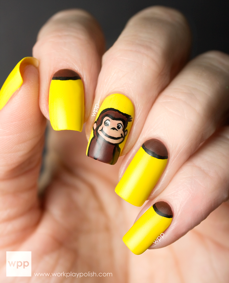 Curious George Nail Art