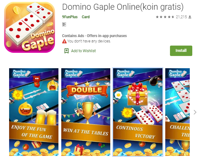 Domino Gaple Online - Game Jenis Domino Terbaru 2019