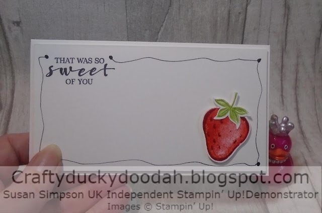 Craftyduckydoodah, Sweet Strawberry, Stampin' Up, Strawberry Builder Punch,
