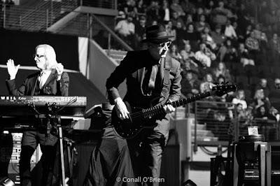 Matt Bissonette of the Elton John Band warming up the crowd in Portland, Maine