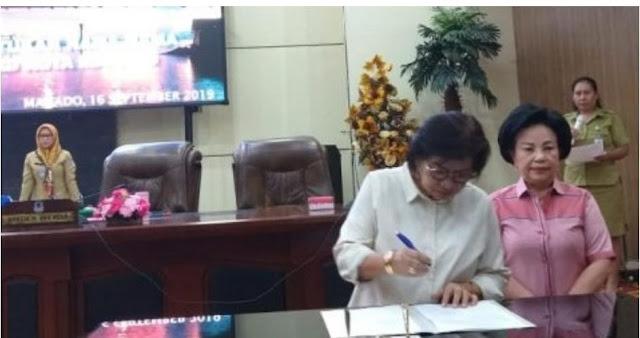 Altje Dondokambey Pimpin Rapat Paripurna Pengumuman dan Pembentukan Anggota Fraksi DPRD Kota Manado