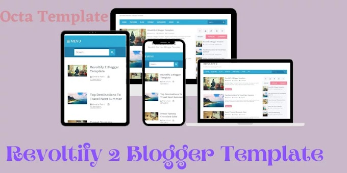 Revoltify Alternate 2 Blogger template | Clean & Responsive Blogger Template