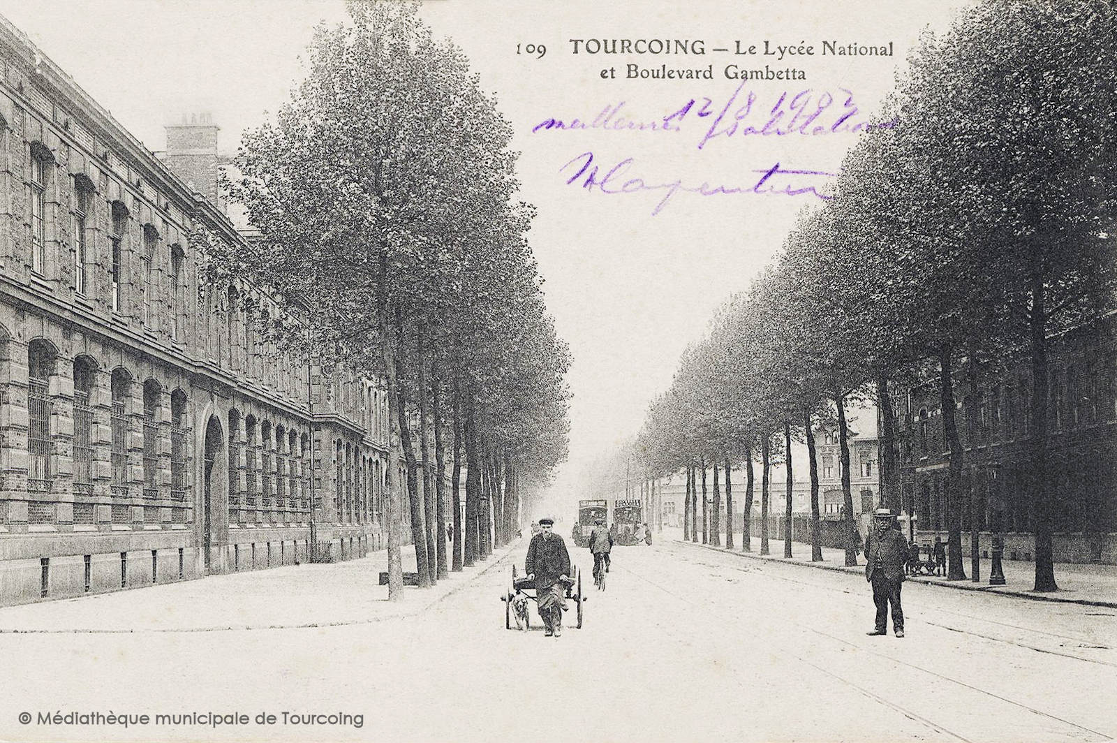 Cartes Postales Anciennes - Lycée Gambetta, Tourcoing - 1902.