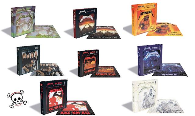 Colección Puzzles de Metallica.