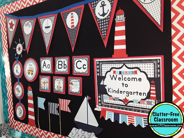Are you planning a nautical themed classroom or thematic unit? This blog post provides great decoration tips and ideas for the best nautical theme yet! It has photos, ideas, supplies & printable classroom decor to will make set up easy and affordable. You can create a nautical theme on a budget!