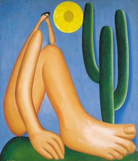 Abaporu, pintura de Tarsila do Amaral. #PraCegoVer
