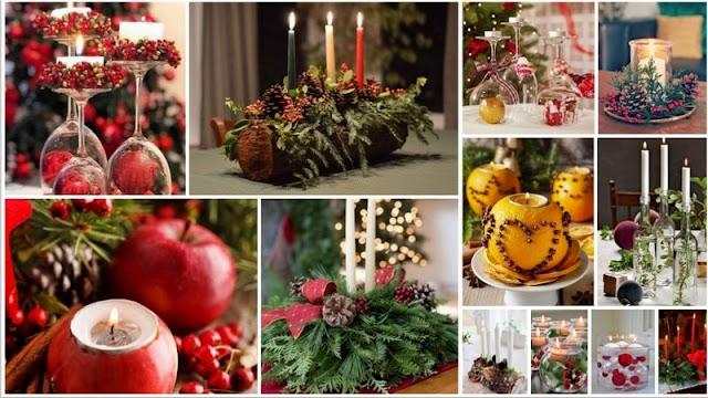 10 Εύκολοι τρόποι για να φτιάξετε Χριστουγεννιάτικες Συνθέσεις με Κεριά & Φυσικά Υλικά