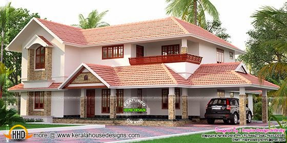 Kerala style house exterior