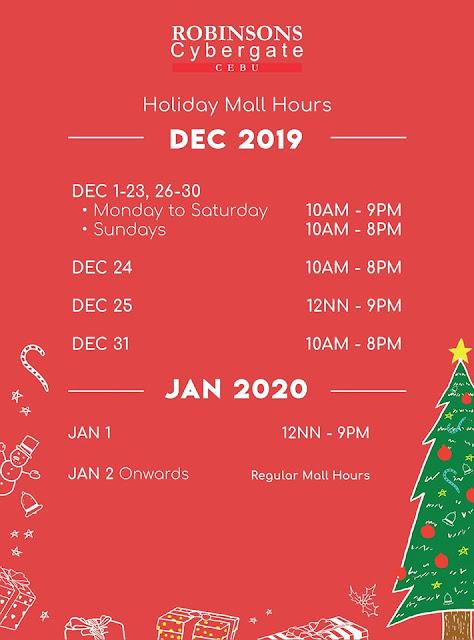 Robinsons Cybergate Cebu Mall Hours 2019