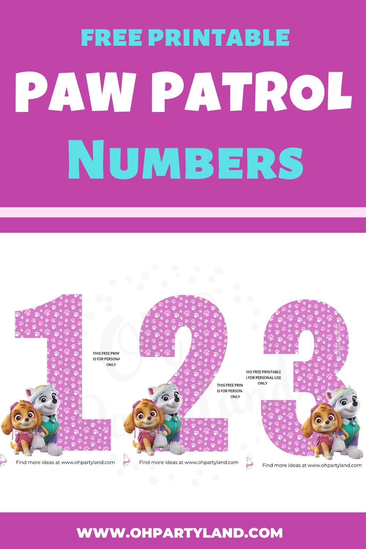 free printable paw patrol numbers