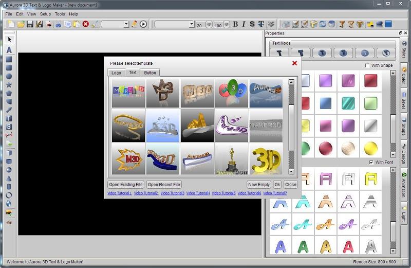 Aurora 3d text logo maker 13.12.01 mlkeymaker core aq9