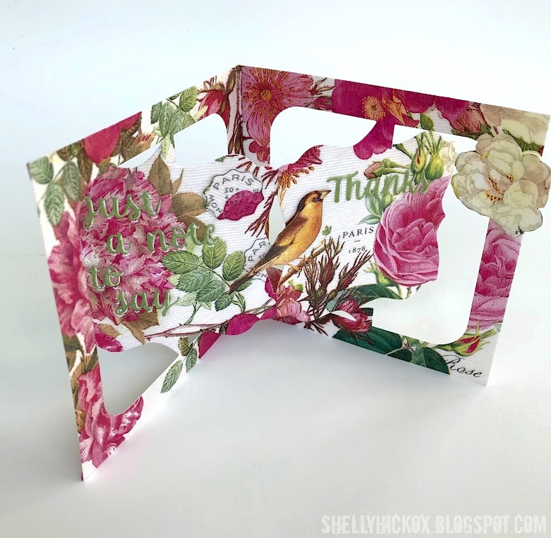 Stamptramp Accordion Floral Thank You Card