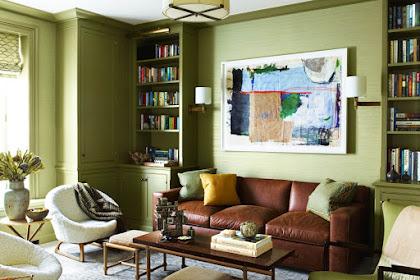 6 Interior Rumah dengan Skema Warna Olive, Penerapan Hijau Zaitun Kekinian