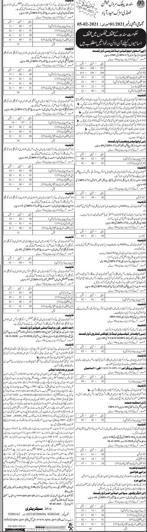 Download Sindh Public Service Commission SPSC Jobs 2021Application Form - www.spsc.gov.pk - SPSC Jobs - Sindh Public Service Commission Jobs 2021 - SPSC Jobs 2021