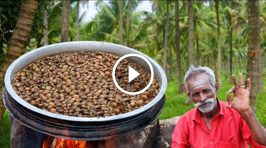 GARLIC!!! Mushroom Prepared by my Daddy Arumugam / Village food factory