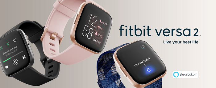 Fitbit Versa 2 – Stylish Full Featured Health & Fitness Smartwatch