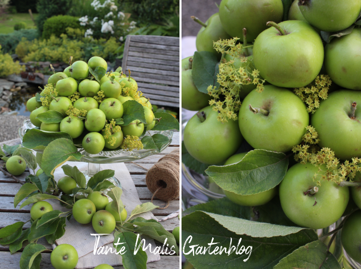 Sommerdeko mit Äpfeln